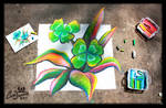 Chalk Art - St Patricks Clover