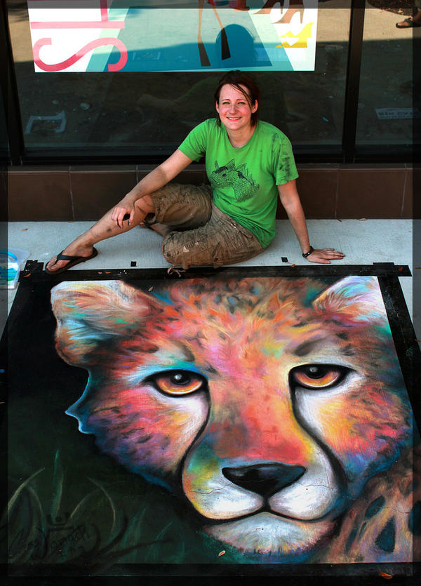 Chalk Art - Cause an Uproar by charfade