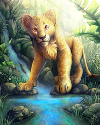 Jungle Lion Cub Fin by charfade