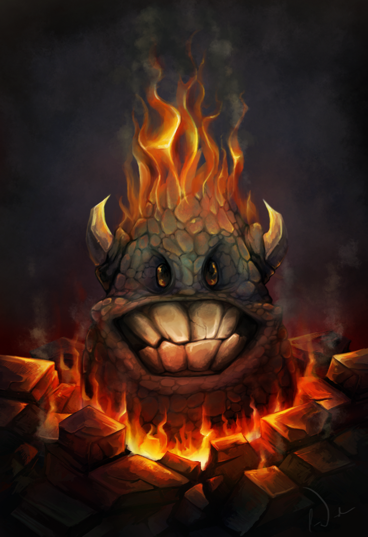 Fire Rock Monster by charfade
