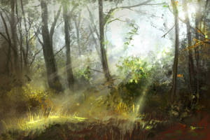 Nov 18th Speed Paint Study Trees by charfade