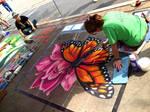 Monarch on Dusty Rose Chalk Progress