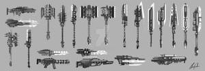 High Tech Weapon Sketches