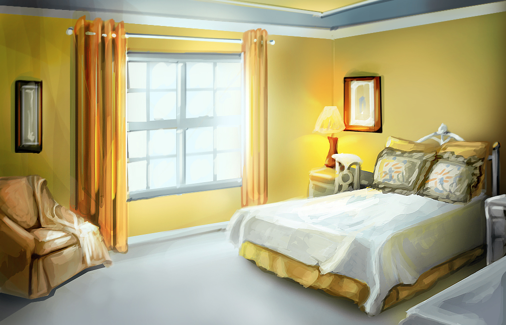 Study Yellow Bedroom By Charfade On Deviantart