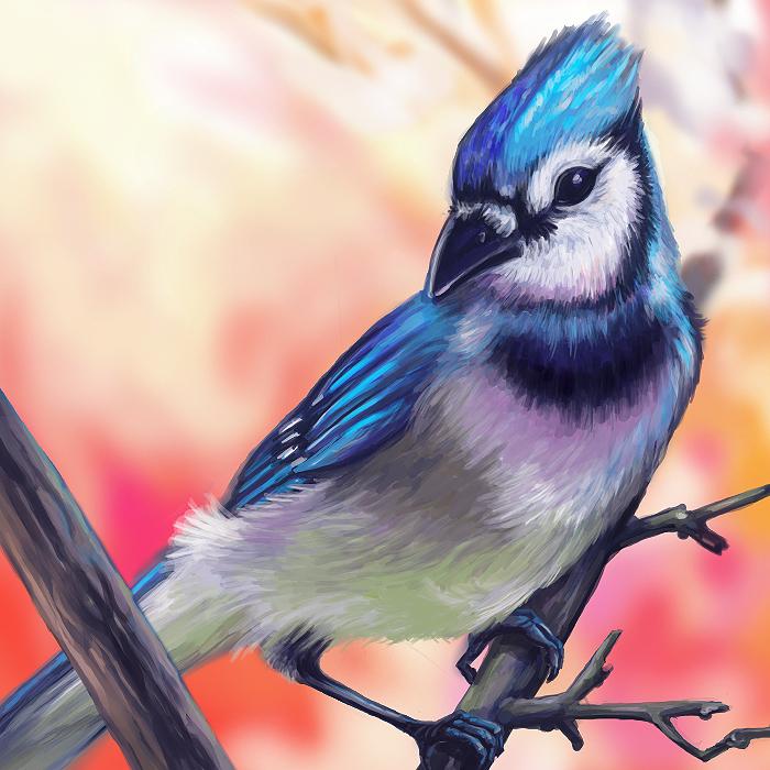 Blue Bird Layer Paint by charfade on DeviantArt