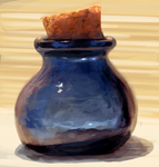 Painted Glass jar Study