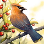 Layer Paint Cedar Waxwing