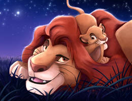 Lion King Under The Stars Paint Over