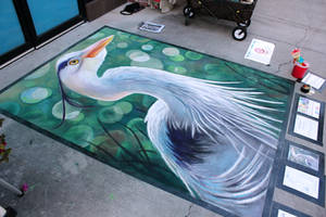 Blue Heron Chalk 1 by charfade
