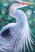 Blue Heron Chalk 2 by charfade