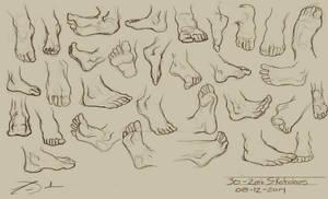 30 - 2min Feet Studies
