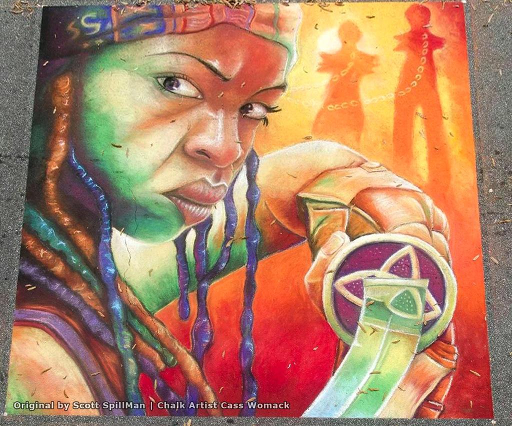 Michonne Chalk Art Final by charfade