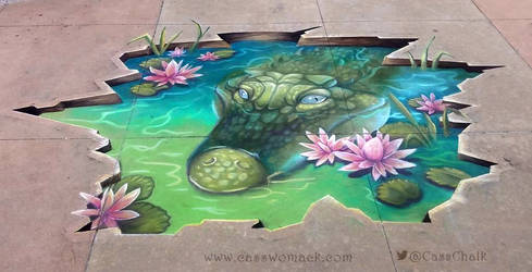 Hidden Beauty in the lilys Chalk