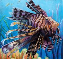 LionFish ChalkArt by charfade