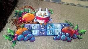 Joyeux Noel Chalk Art
