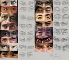 Eye Studies by charfade