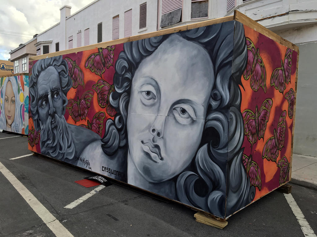 Neptune and Venus butterfly mural by charfade