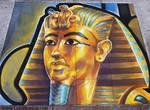 King Tut Chalk Art