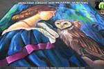 The Owl  Chalk Art