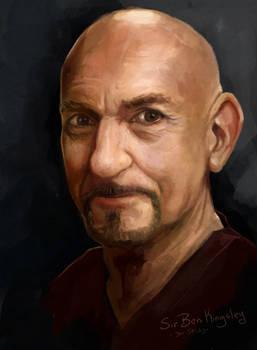 Sir Ben Kingsley Speed Paint Study