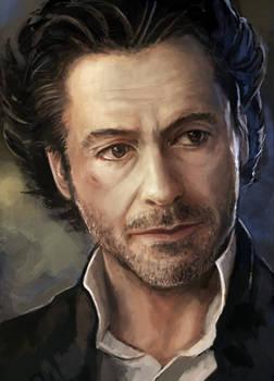 Robert Downey Jr. Sherlock Speed Paint Study