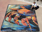 Sally Lightfoot Crab Chalk Art