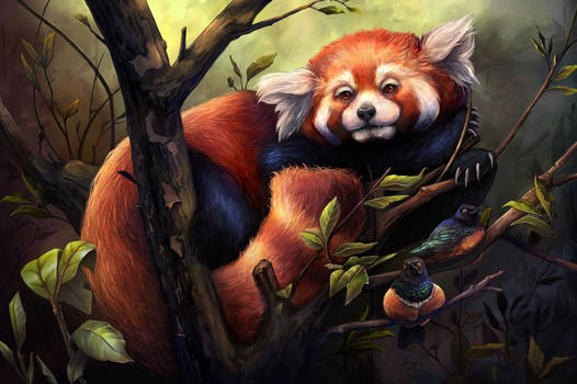 Red Panda digital art