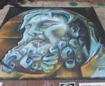 Hercules Bust Chalk Art
