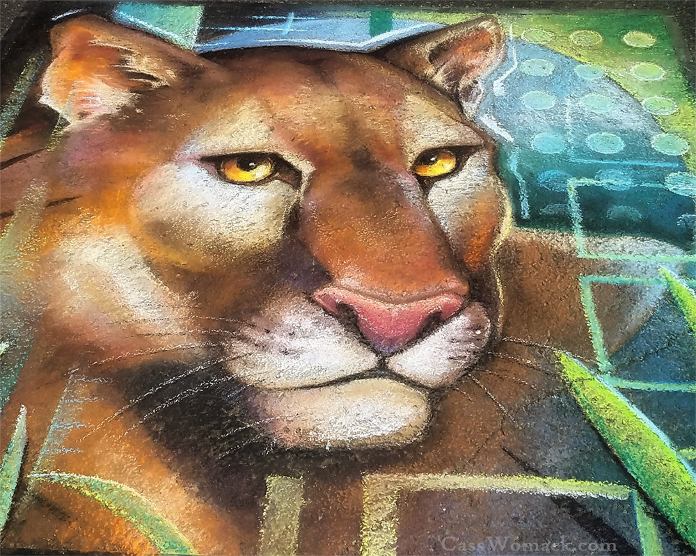 Lucy Florida Panther Chalk Art by charfade