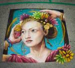 Howard Lyon Return to flore' Chalk Art Render