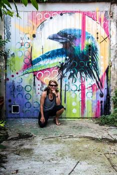 Bird mural at L'impasse - La Seyne Sur Mer France