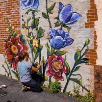 Flower Mural Lockport NY
