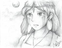 Young Princess Mononoke by charfade