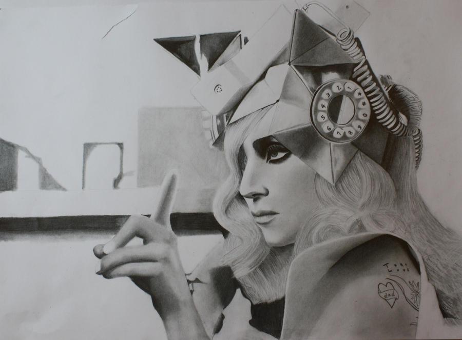 Lady Gaga drawing by AllanDavisArt on deviantART