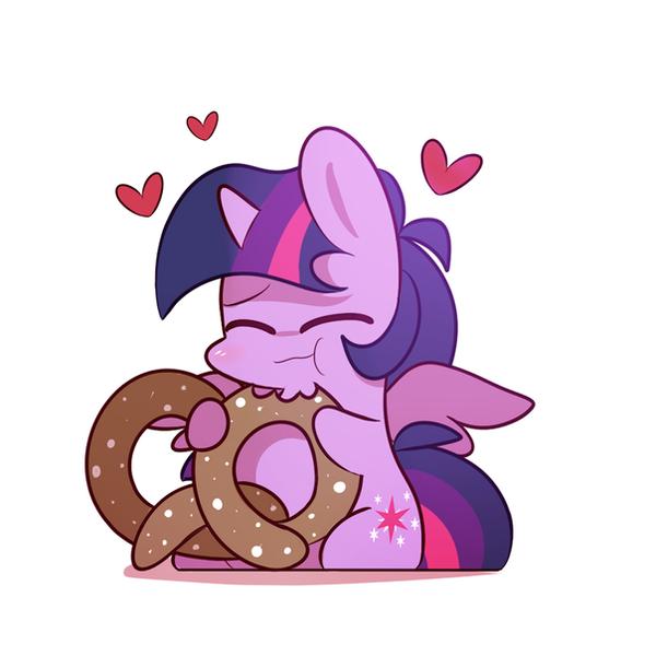 eating a large pretzel! by ILifeloser