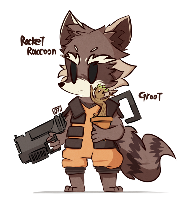 Star Lord And Rocket Raccoon By Timothygreenii On Deviantart: The Best Rocket And Groot Fan Art