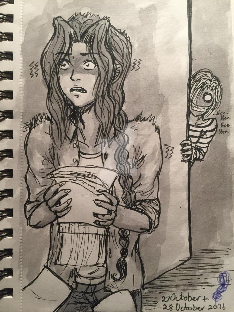 Inktober Day 27 - Creepy by BluePhoenixDown