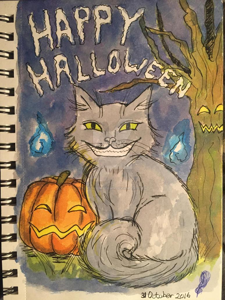 Inktober Day 31 Happy Halloween by BluePhoenixDown
