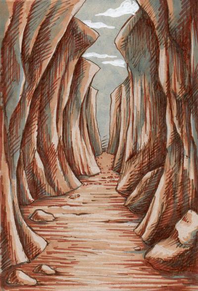 Narrow Passage by rainsingingdragon