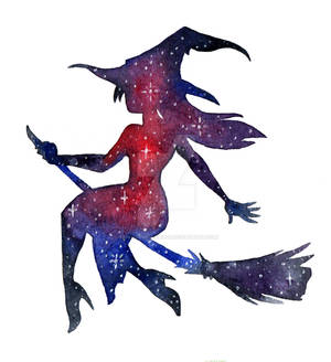 Galaxified witch