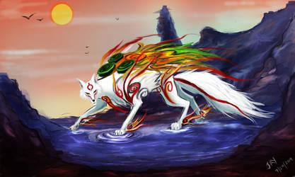 Okami Amaterasu by thrankslash