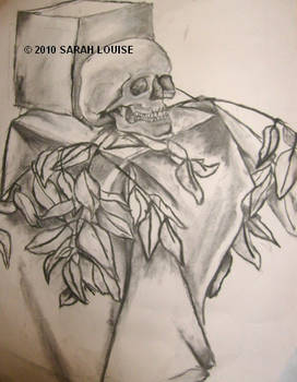 Skull and Leaves