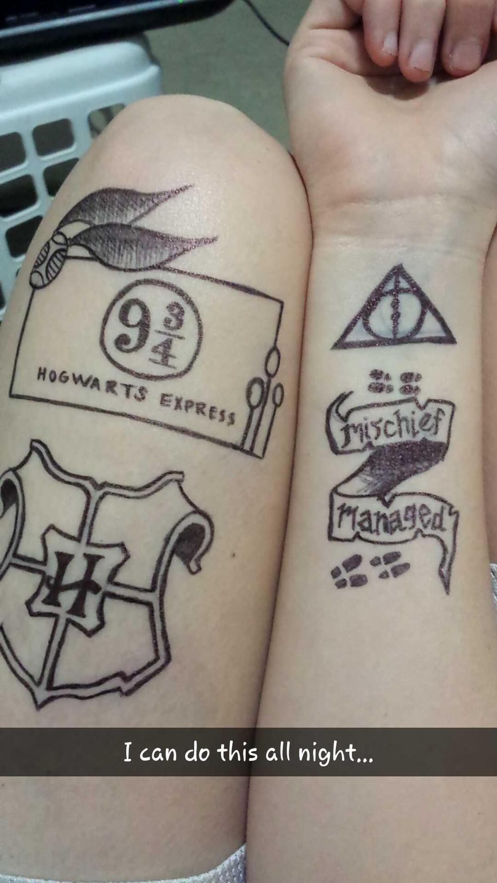 henna tattoo harry potter