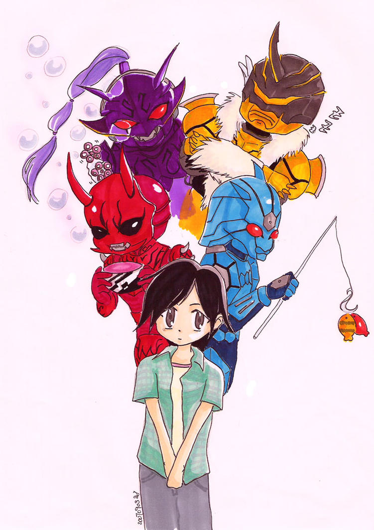 Ryoutaro and Friends 2 by schiz-o