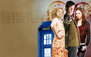 Doctor Who Time Wallpaper by lieutenantsubtext