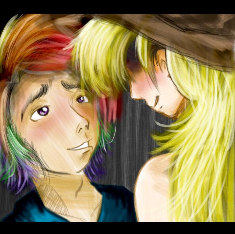 Rainbow Blitz and Applejack by ClaireAnneCarr on DeviantArt