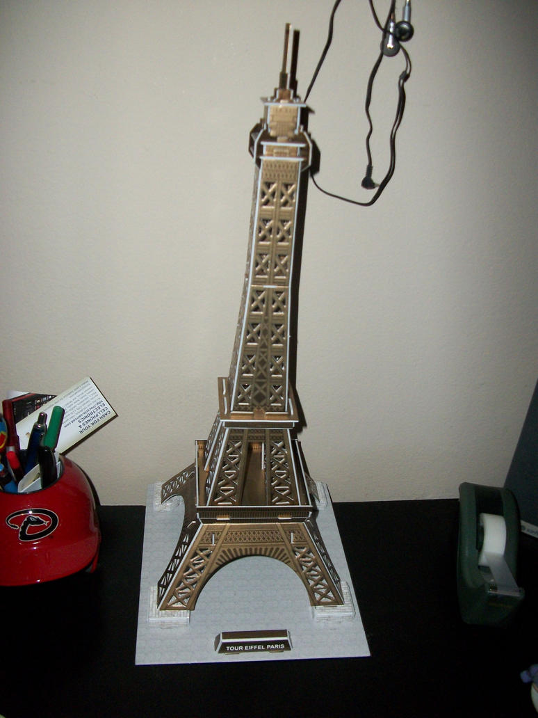 tour eiffel paris puzzle 3d by babs19 on deviantart. Black Bedroom Furniture Sets. Home Design Ideas