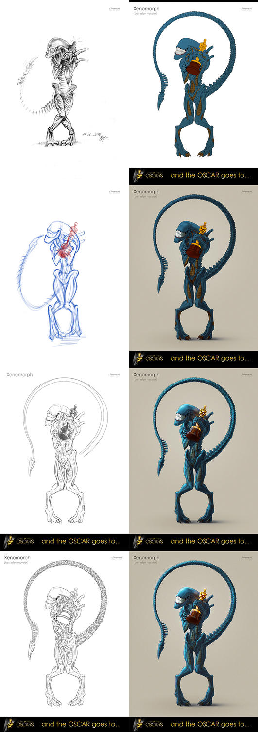And the Oscar goes to Xenomorph - process by Limper-SK