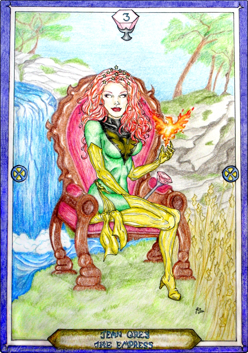 Tarot X The Wheel Of Fortune: The Empress By IAmABananaOo On