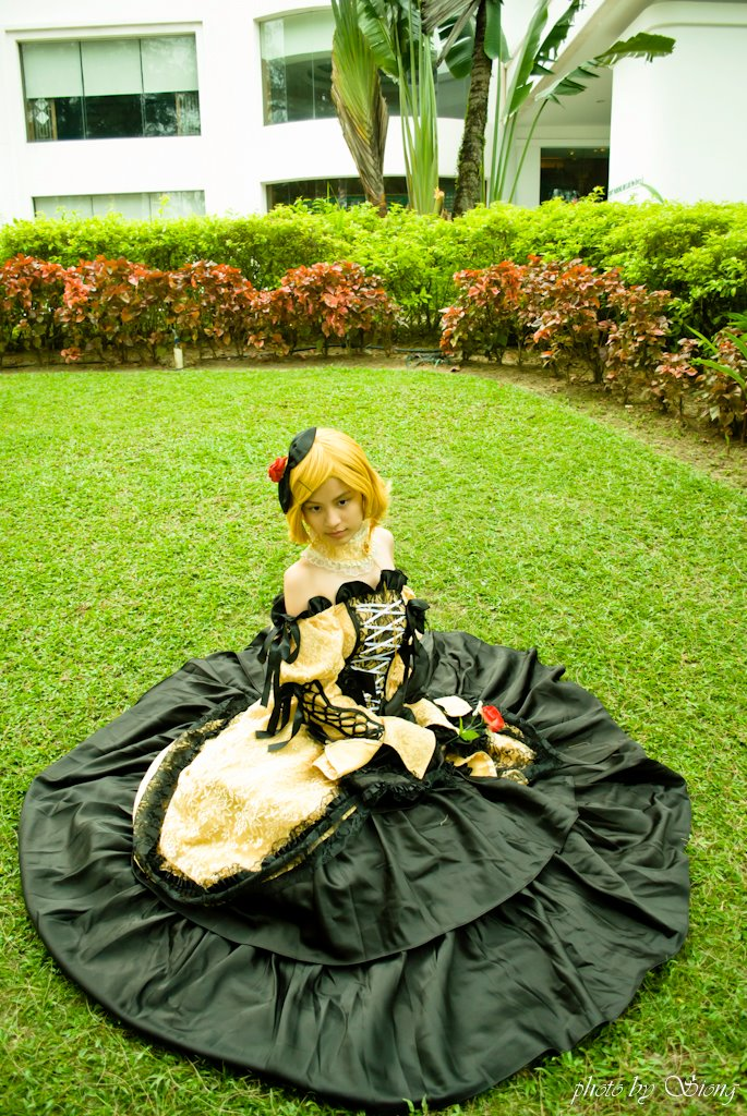 Kagamine Rin Daughter of Evil by xMinas3Kagamine Rin Daughter Of Evil Cosplay